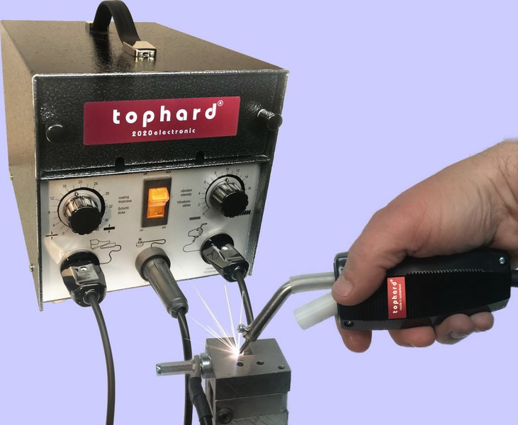The Wocafixing machine Tophard can be used to apply thin, mass-containing layers to all types of steel. : Hardmetal,Thungsten Carbide,Coating,Caseharden,,tophard®,Switzerland,Unitool,Cosmeca,Hardit,Type 3005,